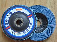 5pcs Premium Zirconia FLAP DISCS 6-Inch  x 7/8-Inch 80 grit Grinding Wheel