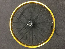Shining B32 Double Wall Rim with Quando Hub Front BMX Wheel Gold