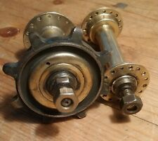 Early 1900's Veteran Bicycle Wheel Hubs  Fixed Wheel 32 hole hubs antique bike
