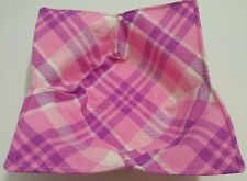 Pink, Purple, and White Plaid Soup Bowl Microwaveable School Girl Tartan Girly