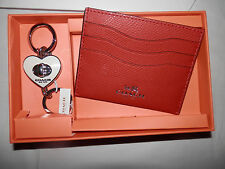Coach-New In Coach Box-Credit Card Holder AND White Key Fob In Gift Box-0507