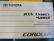 2008 TOYOTA COROLLA MATRIX OWNERS MANUAL GUIDE BOOK SET WITH CASE OEM