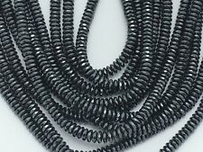 "15.5"" STRAND AAA 6MM FACETED HEMATITE RONDELLE BEADS sg2"