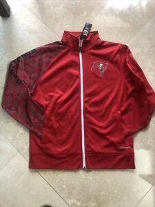 TAMPA BAY BUCCANEERS NFL MENS MAJESTIC FULL ZIPPED WINTER Thermal Base  NEW LG.
