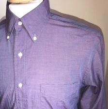 Vintage Brooks Brothers Makers All Cotton Dress Shirt Purple USA Made Sz 15 32