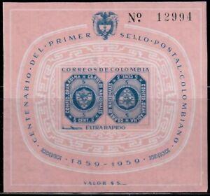 Colombia,Scott#C355,5c,MH,souvenir sheet,Scott=$20