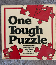 One Tough Puzzle, Vintage 1989 Brain Teaser Challenge,Great American Co #120 9pc