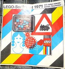 LEGO Assortiment 1971 LEGO CATALOGUE DOSSIER Å