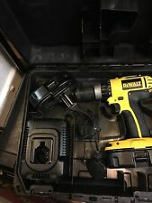 DeWalt DC725 18v Cordless Combi Hammer Drill 2x 1.3ahBatteries, Charger and-CASE