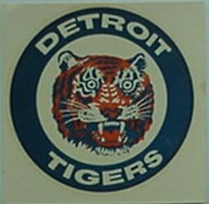 DETROIT TIGERS 1950s-60s DECAL