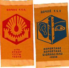Boy Scout Badges CITE + REPORTAGE Ext FSE Assn France