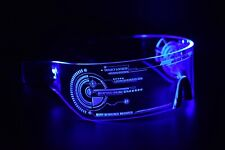 Cyberpunk LED Tron Visor Glasses Cosplay Festivals Cybergoth