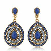 Beautiful Fashion Vintage Bohemian Ethnic Style Dangle Earrings-Blue