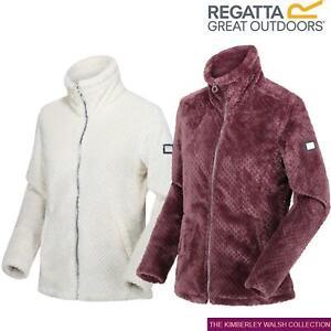 Regatta Womens Hermilla Full Zip Velour Fluffy Fleece Sweater Jacket