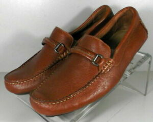 253992 SPC50 Men's Shoes Size 9 M Dark Tan Leather Driving Shoes Johnston Murphy