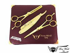 Professional Barber Hairdressing Set Scissor 6.5 Gold + Razor THE GOLD SET (3)