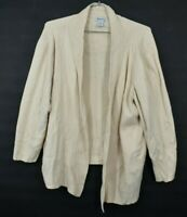 Hampshire Studio Cardigan Sweater Open Front Cotton 3/4 Sleeve Career Size 2X