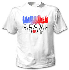 Seoul South Korea - NEW COTTON WHITE TSHIRT