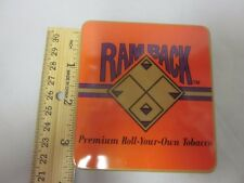 """3"""" Pocket Cigarette TIN EMPTY Hinged Lid COLLECTIBLE Tobacco RAMBACK Ram Back"""