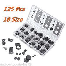 125 Pcs Rubber Grommet Firewall Hole Plug Electrical Wire Gasket Assortment Kit