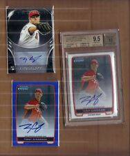 Tony Cingrani Graded BGS 9.5 Rookie Auto + Blue Refractor Sp, + 1 more lot,