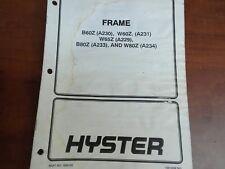 Hyster Frame 1500193 100 SRM 960
