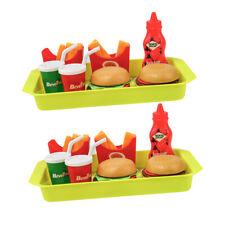 Pretend Play 16pcs Fast Food French Fries Hamburger Play Kids Toy Play Fun