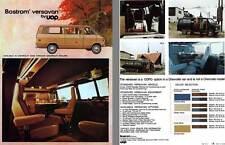 Chevrolet 1972 - Bostrom Versavan by UOP - Available in Chevrolet Vans Through C