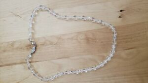 "Collectible HAND CRAFTED CRYSTAL(IMITATED) NECKLACE 18"" LONG"