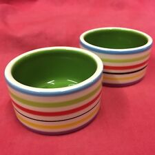 """Hamster Bowls x2 RAINBOW 3"""" Round Dish Water Food Seed OR TREAT BOWL Rabbits etc"""