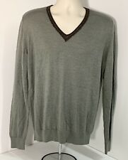 Dries Van Noten Men's V-neck Sweater, Sz XL Belgium