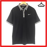Nike Golf Mens Polo Shirt Size M Medium Dri Fit Collared T-Shirt Black Tour