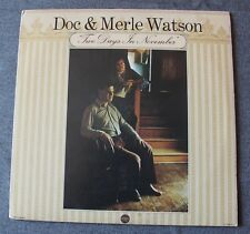 Doc & Merle Watson, two days in November,  LP - 33 tours