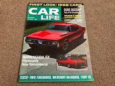AUG 1967 CAR LIFE vintage car magazine - BARRACUDA SX - DUNE BUGGIES