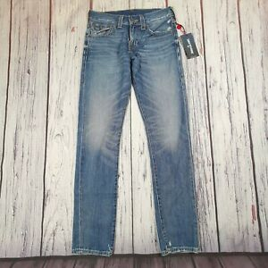 Men's True Religion Jeans 30 Waist (29 tag) 34 Leg Geno Relaxed Slim Fit $199