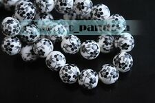 10/50pcs 10/12mm Flowers Pattern Ceramic Porcelain Loose Spacer Colorized Beads