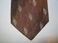 Zianetti SILK Tie Necktie 57 x 3.75 brown gray 13975