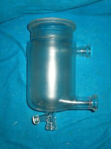 2L Reaction Flask Dual Jacketed 2000ml Mit Gummienlage Montieren