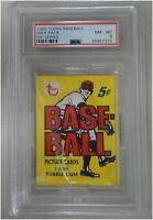 1968 Topps Factory Sealed Baseball Card Pack 5th Series Near Mint-Mint  PSA 8