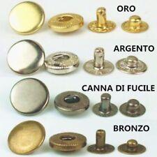 Set Bottoni automatici a pressione in metallo colori e quantità a scelta 8mm