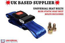 Universal Static Blue Adjustable Lap Belt & Buckle End E4 UK Stock VAT Inc