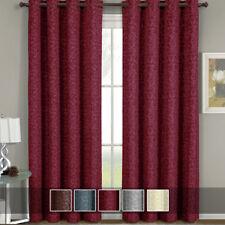 Luxury Fiorela Top Grommet Jacquard Floral Pattern Window Curtain Panel (Single)