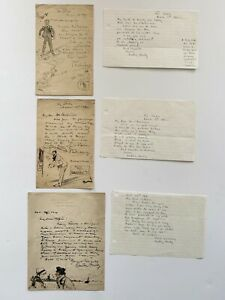 Dudley Hardy Letter Sketch Group Illustration Artist Painting Cartoon Drawing