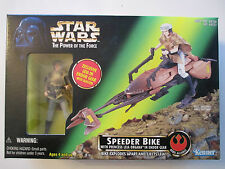 MIB 1997 HASBRO STAR WARS POWER OF THE FORCE SPEEDER BIKE W/ LEIA ACTION FIGURE