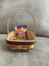 Longaberger 1998 Small Easter Basket & Protector Natural Euc
