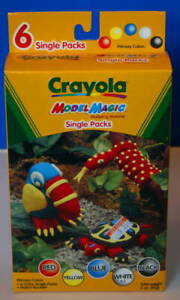 2000 CRAYOLA MODEL MAGIC Single Packs Factory New Box 5 colors & Project Booklet
