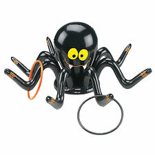 "24"" INFLATABLE SPIDER RING TOSS GAME HALLOWEEN KIDS PARTY GARDEN TOY + 4 RINGS"