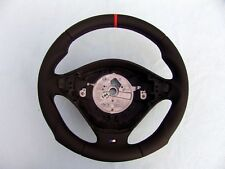 BMW M TECHNIC STEERING WHEEL E36 M3, ERGONOMIC INLAYS, RED STRIPE, NEW LEATHER
