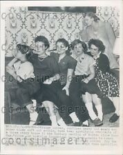 1955 Roxbury Women Listen For Haunted Sounds in Wall Boston MA Press Photo