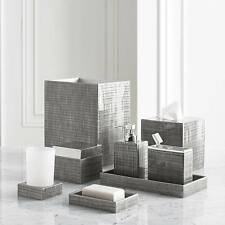 Exceptionnel NEW Kassatex Luxury Delano Grey Complete 8 Pc Bath Accessory Set Resin